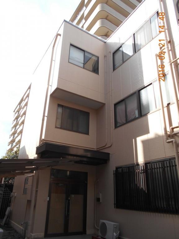 中京区 京都S様 社屋外壁塗装工事